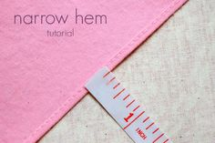 four square walls: narrow hem: three ways