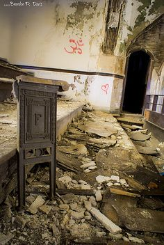 Another abandoned church in Detroit, Michigan