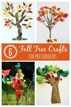 6 Fall Tree Crafts for Preschoolers - Happy Hooligans