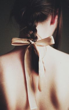a bow makes any braid perfect // #hair