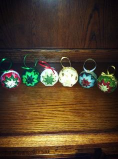Fabric Folded Star Christmas Ornaments