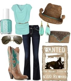 cute outfit for a rodeo!