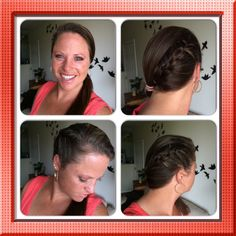 1/2 French braid into side ponytail Nix Hairstyles