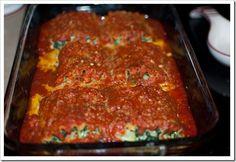 Spinach & Mozzarella Lasagna Roll-Ups