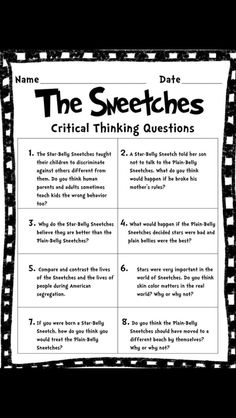 The Sneetches guidance lesson