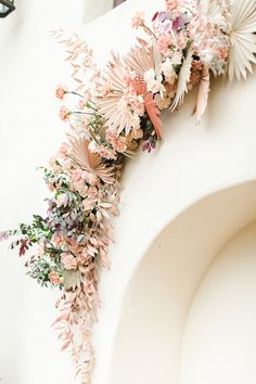 Floral display | Pin discovered by Kelly's Closet bridal boutique in Atlanta, Georgia