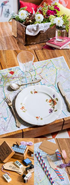 travel themed table decorations #DIY