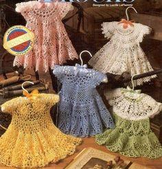 crocheted baby girl dresses.
