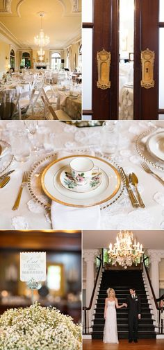 Vintage china placesetting. Vancouver wedding. So romantic.