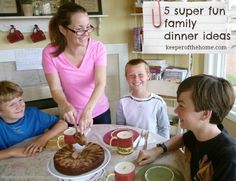Making Mealtimes FUN! {5 Super Fun Family Dinner Ideas} - Keeper of the Home