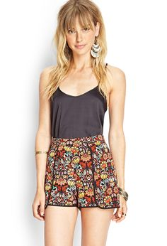 Bright Floral Flutter Shorts #F21Contemporary