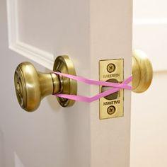 the doors, rubber bands, sleeping babies, household items, sleep babi, the band, sew thing, kid, babies rooms