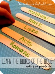 FUN way to learn the books of the Bible! FREE printable books of the bible!