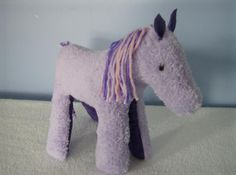 $24.00 Handmade Lavender Pony, Horse, Plush Stuffed Animal, Child Safe