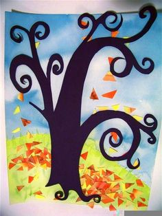 candice ashment art: FALL LEAVES art for kids!!! {tutorial}-- it's so fabulous-want to do this with kinder but need to figure out the tree