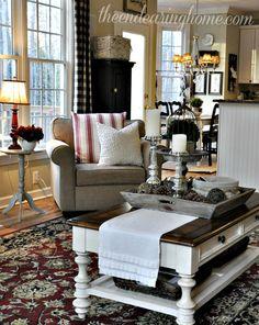 home tours, idea, famili room, cottag style, cozy livingroom decor, endear, barns, homes, live room