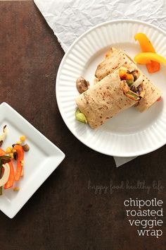 Chipotle Roasted Veggie Wraps from www.happyfoodhealthylife.com
