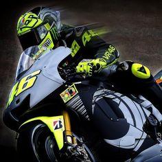 Valentino Rossi with Yamaha M1- VR46