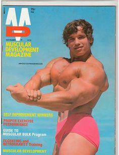 Muscular development magazine featuring arnold schwarzenegger nov