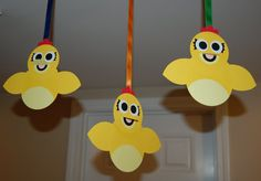 Chica the Chicken Inspired Dangling Party Decorations