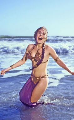 BEFORE INSANITY SET IN:  Carrie Fisher as Princess Leia.
