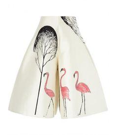 Avenue 32 UK - White Trapeze Flamingo Skort