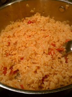 Arroz rojo. AMAZING recipe for Mexican rice, just like at the restaurants. I made this tonight and it is EXACTLY the rice that you get at restaurants. I am keeping this one!