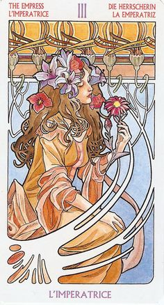 The Empress, from the Art Nouveau Tarot by Antonella Castelli