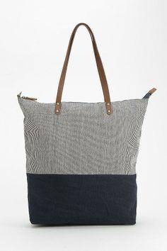 BDG Hopkins Stripe-Block Tote Bag #urbanoutfitters