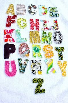 Tutorial: How to make fabric texture letters (for sensory exploration or for quilting)