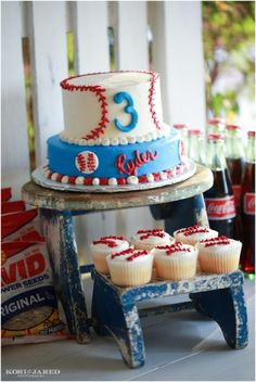 Baseball Party - Birthday Party - Baseball Cake - Kori & Jared Photography