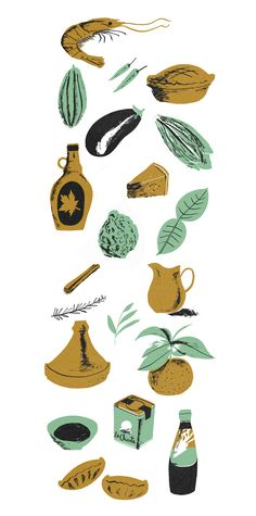 food from cookbook - Great Food illustrations by Nicholas John Frith