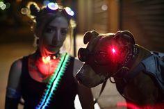 Laser dog goggles