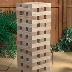 Giant pub garden bbq party tumbling wooden tower new