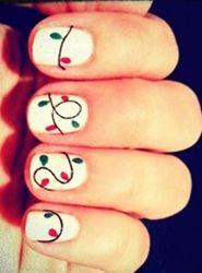 Christmas light nails.