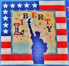 Veteran's Day Liberty Fabric Panel New by SewStitchQuilt on Etsy, $7.00 Free Shipping
