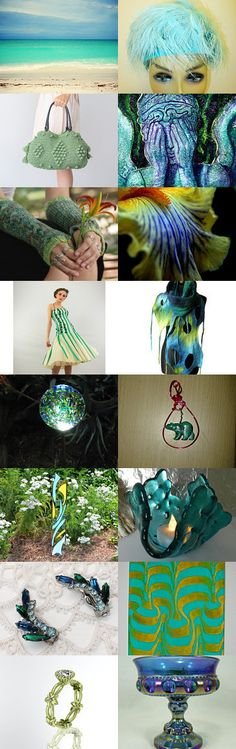 Blue Green of August Team FEST by Julie DeStefano on Etsy--Pinned with TreasuryPin.com