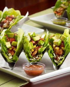 Mediterranean Chicken Lettuce Wrap Tacos (Only 350 calories!)