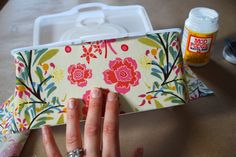 Fabric covered wipe container tutorial