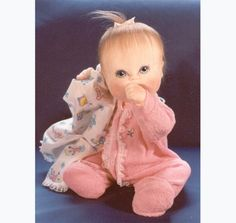 "PDF Baby Doll SEWING PATTERN 16 inch ""Penny"" Jointed Toy Cloth RagDoll with Sleeper"