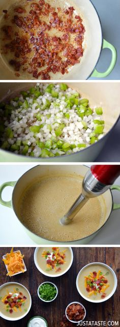 Loaded Baked Potato Soup #recipe