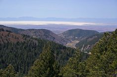 View in Cloudcroft New Mexico, you can see White Sands at top of picture.