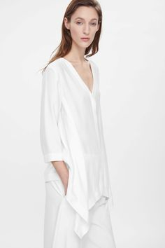 Draped v-neck shirt