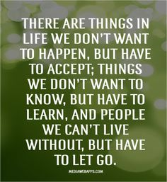 Let go | Life Lesson quotes