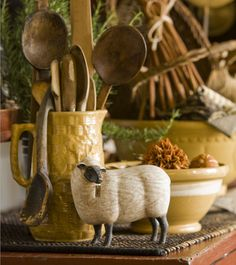 Sheep and Yellowware.