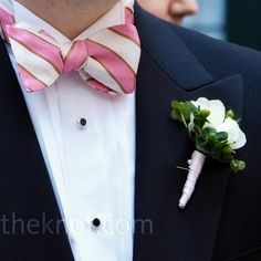 Boutonniere and bow tie!