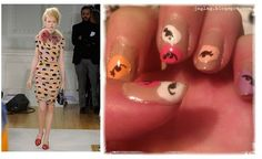 Nail art i did inspired by Moschino at LFW