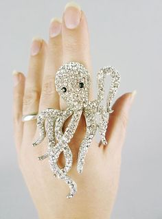 Cthulhu Monster Cocktail Ring $28