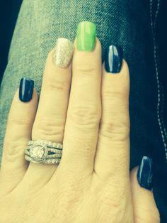 Seahawks Nails!!