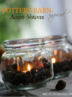 Steal a few acorns from your backyard squirrels to craft these adorable, rustic candle holders.